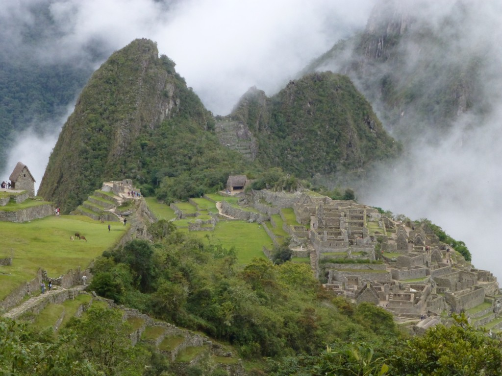 Our first glimpse of Machu Picchu from a distance