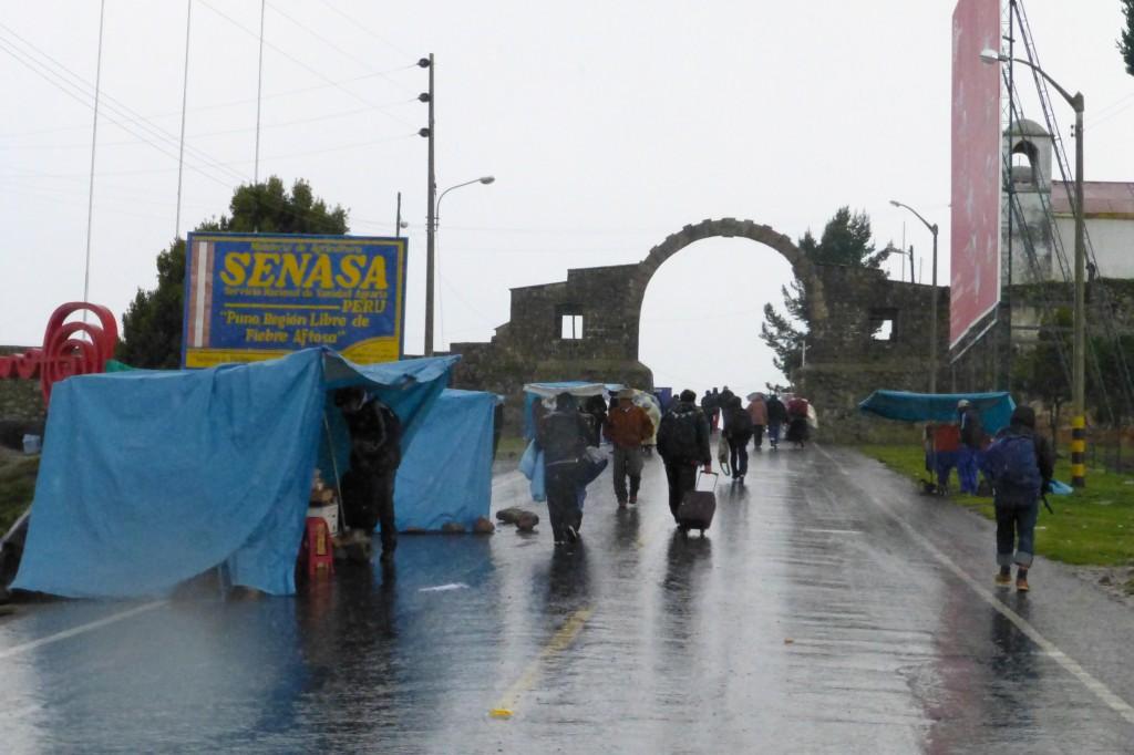 Border crossing into Bolivia