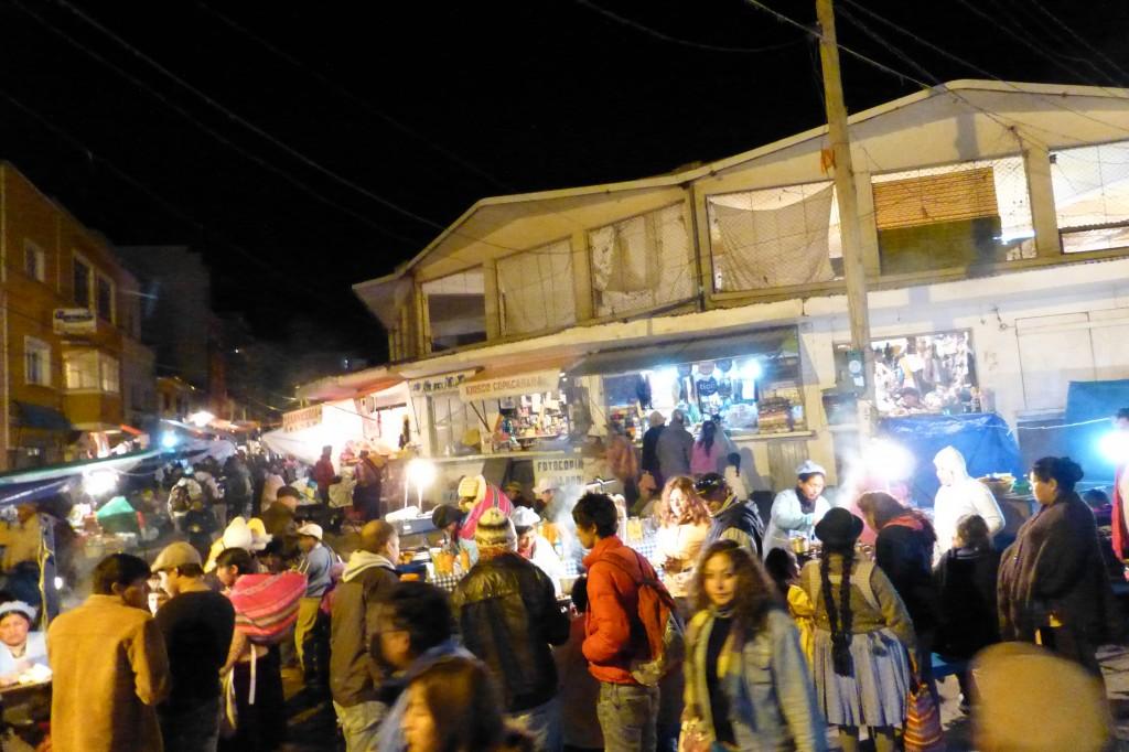 Street vendors at the night market